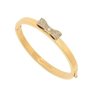 KATE SPADE • Gold Ready Set Bow Bangle Bracelet